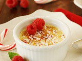 Peppermint-White Chocolate Creme Brulee