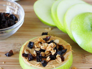 Prune & Peanut Butter Apple Snacks