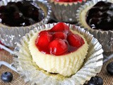Red White & Blue Mini Cheesecakes
