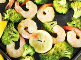 Roasted Shrimp & Broccoli Sheet Pan Supper