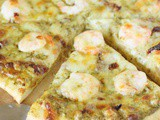 Shrimp & Pesto Pizza with Sun-Dried Tomatoes
