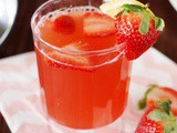 Strawberry Tea Punch Recipe {For the Sweetest Mother-Daughter Tea Party!}