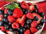 Triple Berry Fruit Salad with Vanilla Simple Syrup