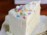 White Chocolate Birthday {or Easter} Cake & Tastebuds Popcorn give-away
