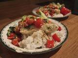 Baked Fish with Tomato, Garlic and Basil