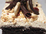 Chocolate Banana Cake with Hazelnut Icing