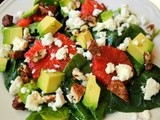 Baby greens blood orange avocado salad