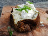 Baked potatoes with whipped feta
