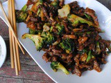 Mongolian black pepper beef broccoli