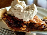 Our pecan pie with Coffee Scented Whipped Cream
