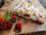 Raspberry toasted almond scones