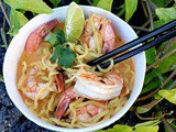 Thai coconut ramen with Shrimp