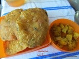 Dhania Puri  and Spicy Potato Vegetable ~ Baby Shower for Sapana