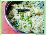 Peas and Tofu Pulao
