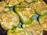 Reposting  Capsicum Stuffed with Tofu and White Sauce