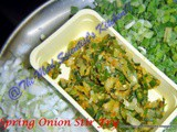 Spring Onion Stir Fry or Kanda Path Bhaji