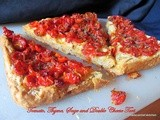 Tomato, Thyme, Sage and Double Cheese Tart