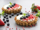 Berry and Mascarpone Granola Tarts