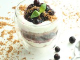 Blueberry Ricotta Cheesecake with Almond Crumble