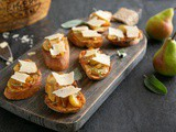 Bruschetta with Caramelised Pears & Grana Padano Riserva