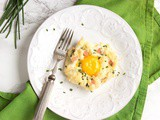 Eggs in a Cloud with Quorn™ Vegetarian Bacon
