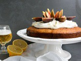 Lemon Beer Cake with Honey and Figs