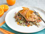 Pan-seared Orange Honey Salmon