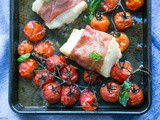 Prosciutto Wrapped Cod with Roasted Tomatoes