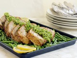 Turkey Roulade with Basil Pea Pesto