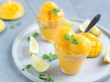 Vegan Mango Sorbet (Ready in 5 Min!)