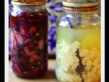 Key Lime Pie and Blueberries and Cream Vodka Infusions