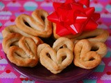 Valentine's Day Mini-Heart Soft Pretzels