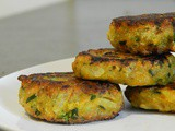 Vegetable fritters for toddlers | mix veg cutlet recipe