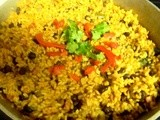 Arroz Con Habichuelas Negras (rice with black beans)