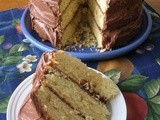 3-layer buttermilk cake with chocolate frosting