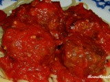Baked meatballs for spaghetti or appetizers