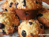 Banana blueberry coconut muffins