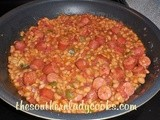 Beans and franks with a twist