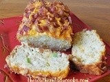 Cheesy bacon apple bread