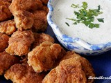 Chicken nuggets – homemade ranch dressing
