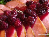 Easter ham with blackberry glaze