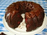 Exquisite chocolate cherry cake
