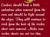 Handy food tip- baking cookies