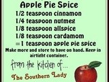 Handy food tip – make your own apple pie spice