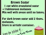 Handy food tip – make your own brown sugar
