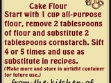 Handy food tip – make your own cake flour