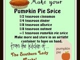 Handy food tip – make your own pumpkin pie spice