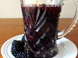 Homemade blackberry syrup