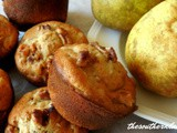 Honey pear muffins