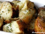 Microwave parsley potatoes